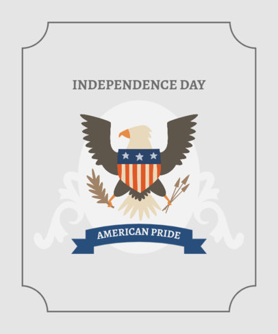 Patriotic T-Shirt Design Maker to Celebrate USA Independence Day 1847b-el1