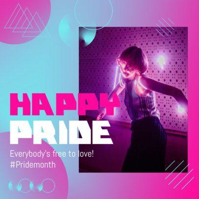 Instagram Post Maker for a Pride Month Celebration 2608a