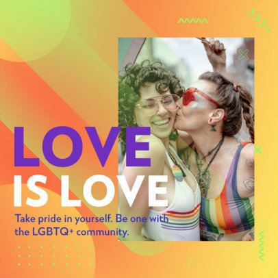 LGBTQ-Themed Instagram Post Design Maker Featuring a Colorful Background 2608g