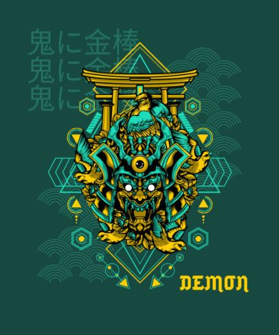 T-Shirt Design Generator with a Spooky Demonic Mask 1827g-el1