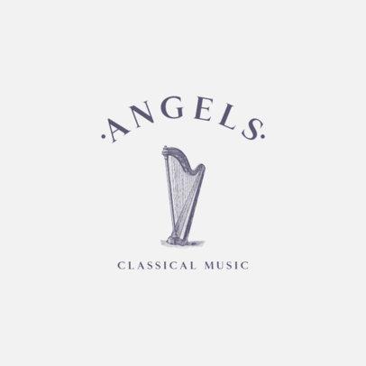 Logo Maker for Classical Music Featuring a Harp Graphic 1772b-el1