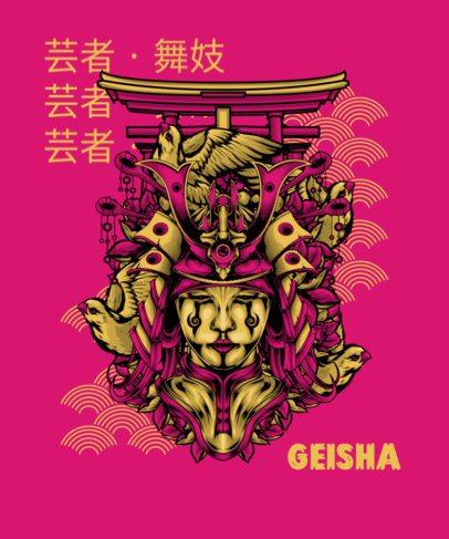 T-Shirt Design Creator Featuring  the Mask of a Geisha 1827j-el1