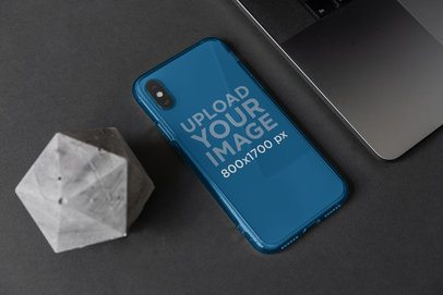 Clear Phone Case Mockup Featuring Elegant Ornaments 4631-el1