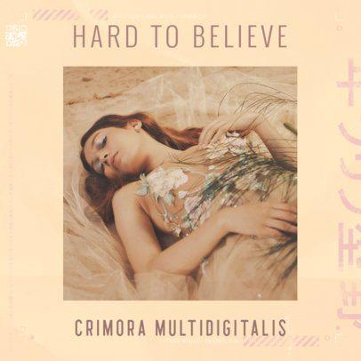 Album Cover Template for a Female Singer 2610j-2611