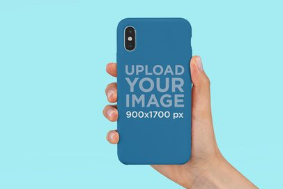 Phone Case Mockup Featuring a Customizable Background 4647-el1