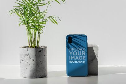 Mockup of a Phone Case for iPhone in a Minimalistic Setting 4620-el1