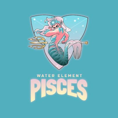 Online Logo Generator Featuring a Pisces Mermaid 3348h
