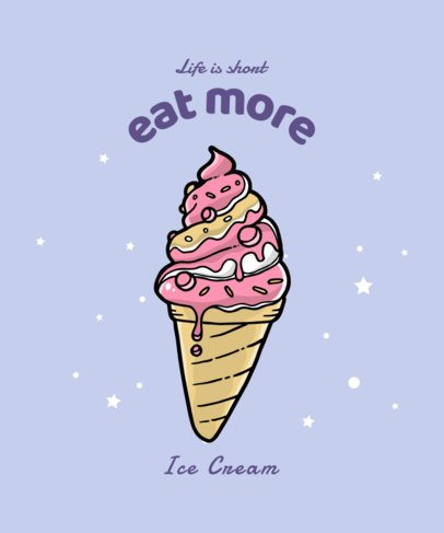 T-Shirt Design Creator with an Ice Cream Cone Graphic 1873b-el1
