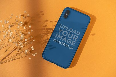 Clear Phone Case Mockup Featuring a Plain-Colored Surface 4604-el1