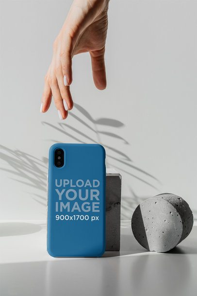 Mockup of a Woman About to Grab a Phone Case 4623-el1