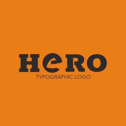 Typographic Logo Maker Featuring a Strong Arm in a Letter