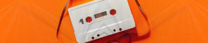 Soundcloud Header Design Maker Featuring a Cassette 2596n