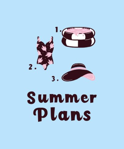 T-Shirt Design Generator Featuring Summer Vacation Icons 1878d-el1