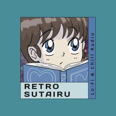 Logo Generator Featuring an Intellectual Anime Girl 3347b