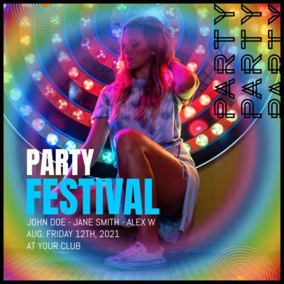 Instagram Post Maker for a Festival Party Announcement 2642g