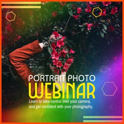 Instagram Post Creator for a Photography Webinar 2642d
