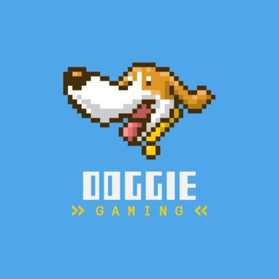 Gaming Logo Creator Featuring an 8-Bit Dog Graphic 1861a-el1