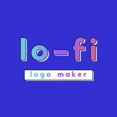 Logo Maker Featuring Gradient Bold Typeface 3367