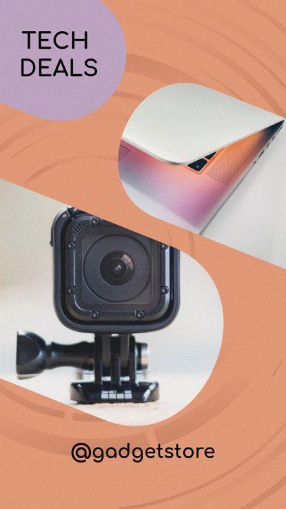 Instagram Story Template Featuring Tech Gadget Offers 949d
