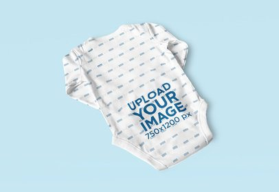 Mockup of the Back of a Sublimated Baby Onesie 4592-el