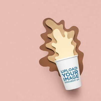 Paper Cup Mockup Featuring a Fun Decoration 36887-r-el2