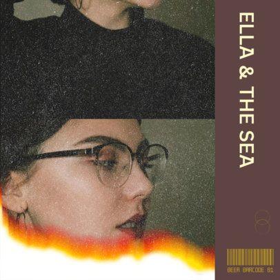 Album Cover Design Maker Featuring a Vintage Film Noise Effect 2645d