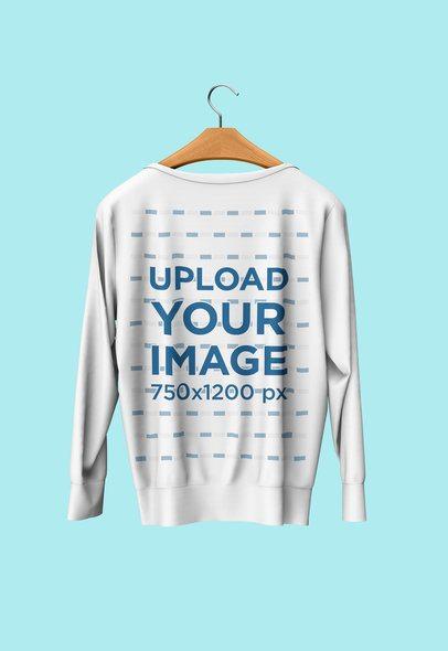 Mockup of a Sweatshirt on a Wooden Hanger 4720-el1