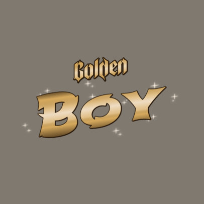Logo Maker With Metallic Gold Font 3366j