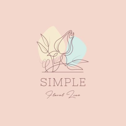 Logo Generator Featuring Continuous-Line Flowers Drawings 3373