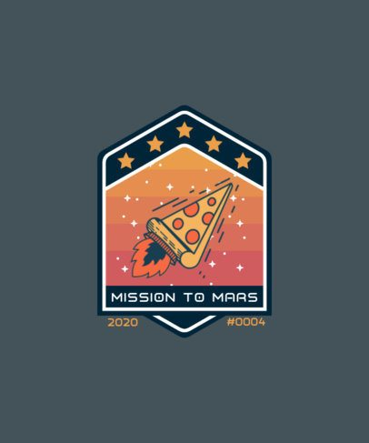 T-Shirt Design Maker Featuring Space Badge Graphics 1940