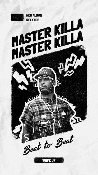 Instagram Story Generator for a Freestyle Rapper's New Album Release Ad 1946d