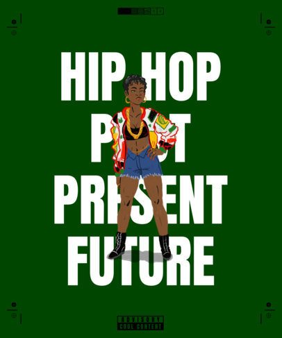 T-Shirt Design Maker Featuring Illustrations of Hip-Hop Through Time 2620