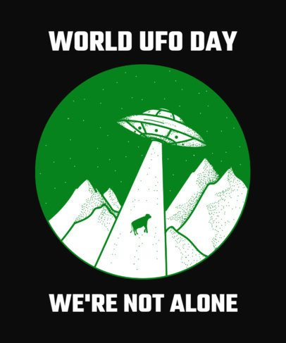 Alien T-Shirt Design Maker to Celebrate World UFO Day 445g-2665