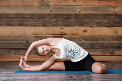 Tank Top Mockup of a Relaxed Woman Doing Yoga 38062-r-el2