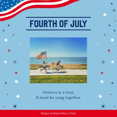Instagram Post Generator with a Fourth of July Celebratory Design 2385k 2664