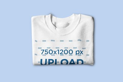 Mockup of a Folded Crewneck Sweatshirt Placed on a Colored Surface 4752-el1