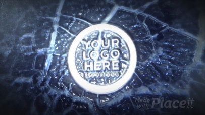 Intro Maker Featuring a Logo Incrusted in a Crystal Ice Surface 727-el1
