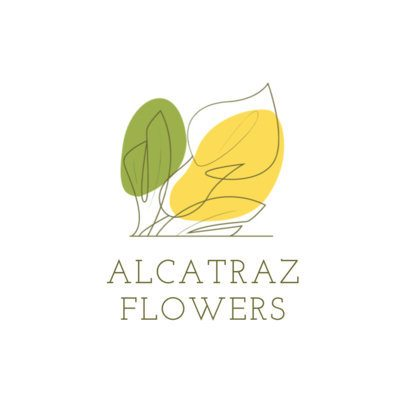 Flower Shop Logo Maker with a Continuous Outline Drawing of a Calla Lily 3373f