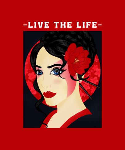 T-Shirt Design Creator Featuring a Female Flamenco Dancer Illustration 2634b