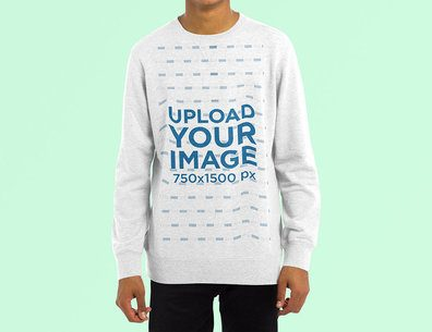 Sweatshirt Mockup of a Man Doing a Plain Pose 4464-el1