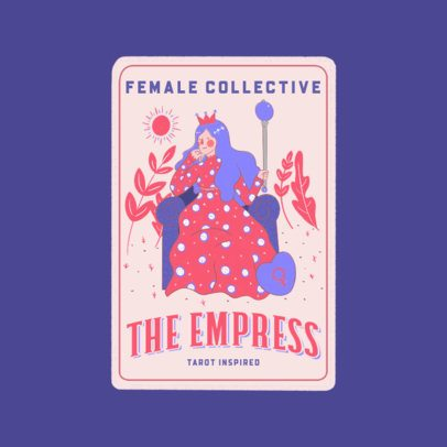 Logo Creator Featuring a Tarot Card of an Empress 3369b