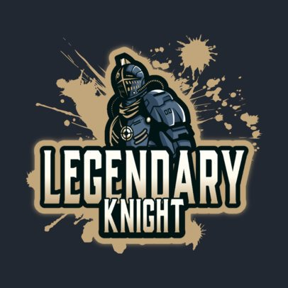 Logo Creator for a Gaming Team Featuring a Legendary Knight 3375a