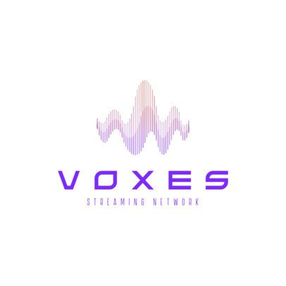 Logo Creator for a Radio Station Featuring a Gradient Sound Wave Graphic 3383h