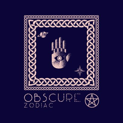 Occultism Logo Maker Featuring a Hand with an Eye 3371g