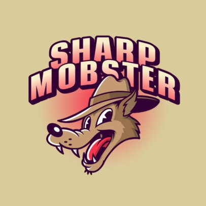 Cartoonish Logo Maker with a Gangster Wolf Character 3377c