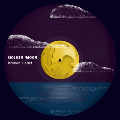 Vinyl Record Design Maker Featuring a Calm Sea Landscape 2625b