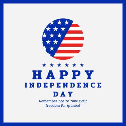 Patriotic Instagram Post Template for Independence Day 1950-el1