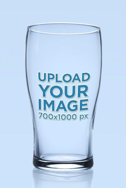 Mockup of an Empty Beer Glass 35702-r-el2