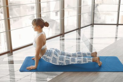 Leggings Mockup of a Woman Practicing Yoga 37330-r-el2