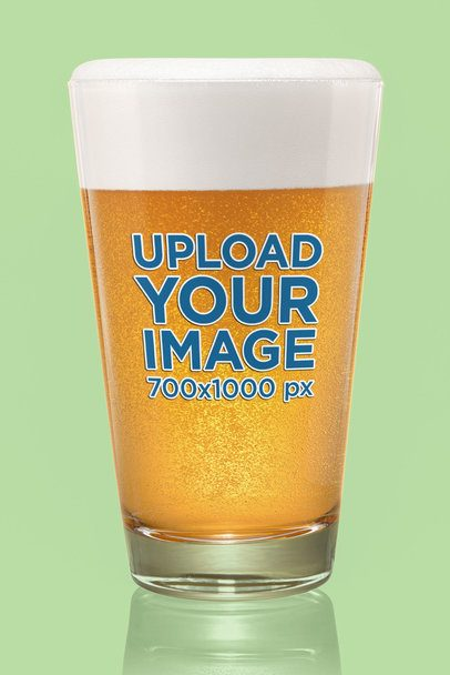 Mockup of a Plain Beer Glass with a Customizable Background 35699-r-el2